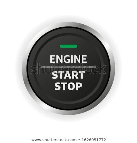 Começar pare motor botão moderno carro Foto stock © tomistajduhar