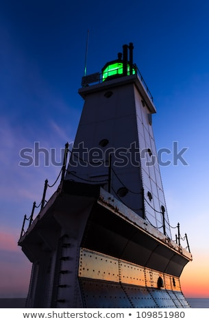 Phare Michigan nord lac ciel nuages Photo stock © Kenneth_Keifer