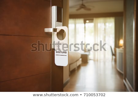 do not disturb door hanger for hotel Stock photo © gladiolus