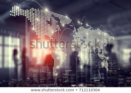 światowy działalności business network kropkowany Pokaż człowiek Zdjęcia stock © lightkeeper