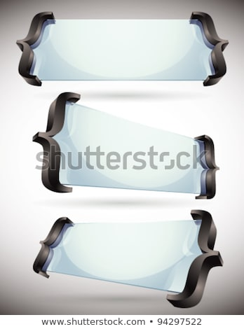 3d glass made banners with spelling brackets. Stock photo © Sylverarts
