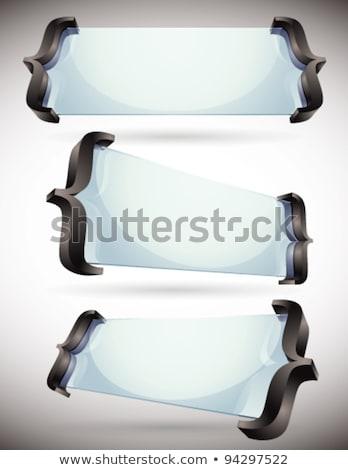 3D · стекла · Баннеры · правописание · вектора · набор - Сток-фото © Sylverarts