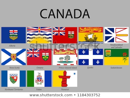 Canada Provincial Flags Stock photo © michelloiselle