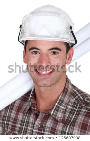 Erschossen grinsend Handwerker Gesicht Bau Stock foto © photography33