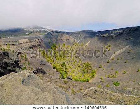 San Antonio volcano from Teneguia in La Palma Stock photo © lunamarina