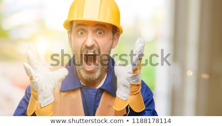 shocked construction worker stock photo © photography33