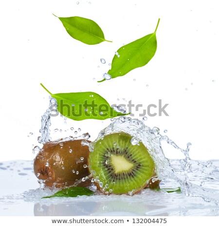 kiwi · salpico · fruto · verão · verde - foto stock © ozaiachin