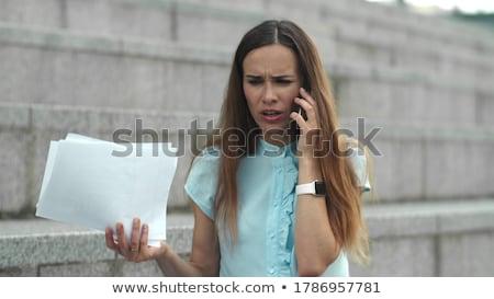 mulher · zangado · branco · cara - foto stock © grafvision
