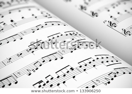 Close up of notes on an old music sheet. Stock photo © latent