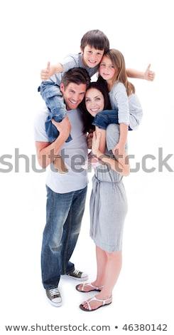 Parents giving their children piggyback rides Stock photo © wavebreak_media