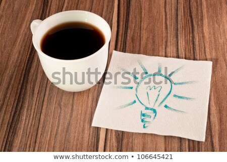 Light bulb on a napkin stock photo © a2bb5s