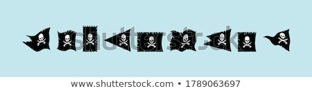 Waving Pirate flag Stock photo © CaptureLight