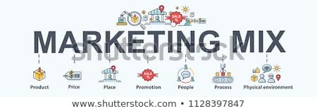 マーケティング · 製品 · 場所 · プロモーション · 価格 · 利益 - ストックフォト © liliwhite