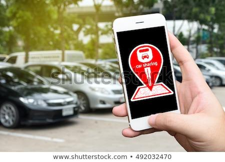 Voiture panneau routier signe Photo stock © Rob300