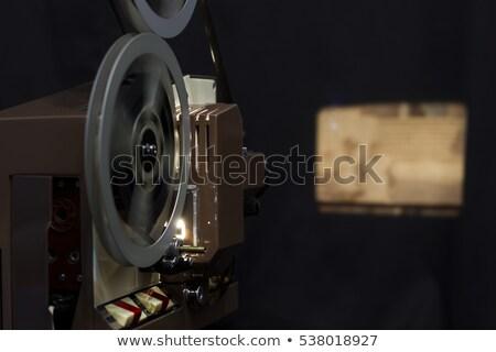 öreg 8mm projektor idejétmúlt izolált fehér Stock fotó © Mikko