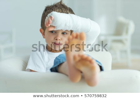 Young Boy With Broken Arm In Plaster Cast Stock photo © williv