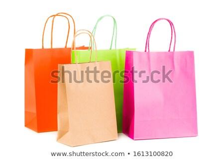 ストックフォト: Four Shopping Bags Isolated On White Background