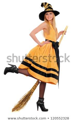 かなり · 若い女性 · 着用 · 衣装 · 魔女 · 青 - ストックフォト © acidgrey