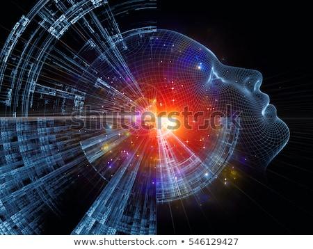 Emberi intelligencia kutatás szimbólum megállapítás gyógyít Stock fotó © Lightsource