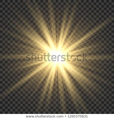 Gold star with starburst light blast Stock photo © Lightsource