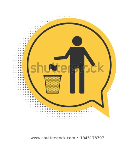 man with eco speech bubble stock photo © lipmic