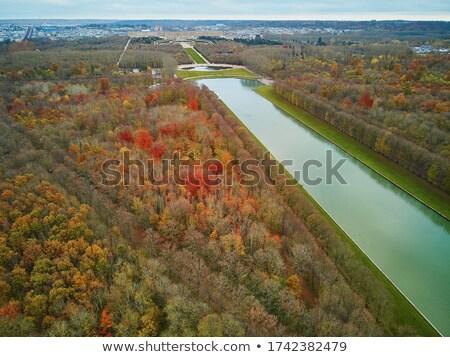 庭園 · ベルサイユ · 運河 · フランス · 噴水 · 空 - ストックフォト © TanArt