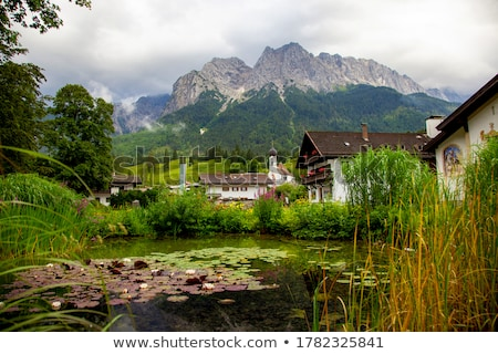alpine church and graveyard Stock photo © Antonio-S