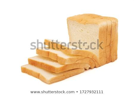 スライス · 白パン · 木製 · ガラス · ボウル - ストックフォト © nito