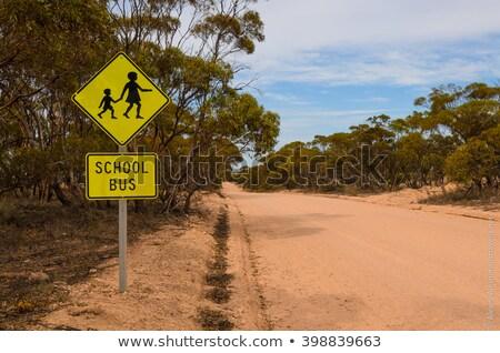 Bus rural Australia Stock photo © iofoto
