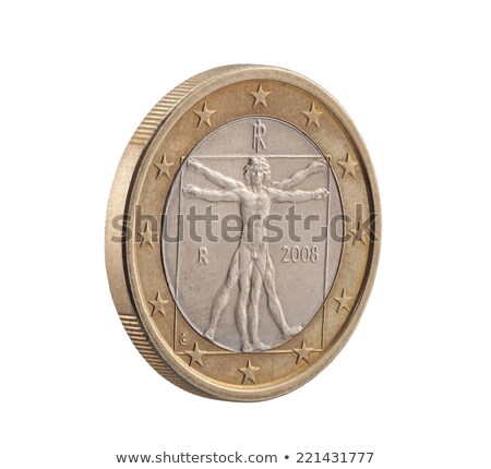 italian one euro with clipping path stock photo © sqback