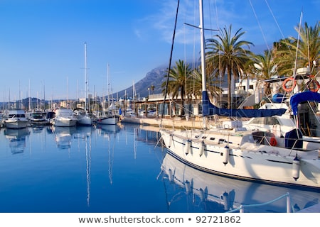 blue sky marina in spain mediterranean stock photo © lunamarina