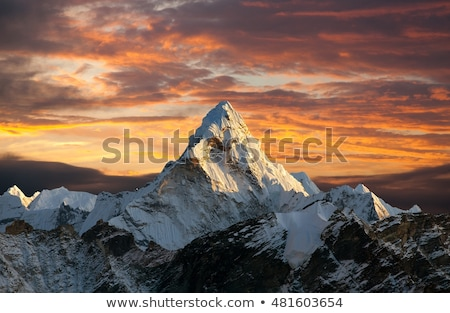Himalaia panorama montanha evereste viajar paisagem Foto stock © Arsgera