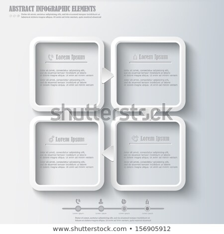 Vector squares background design illustration / steps template Stock photo © orson