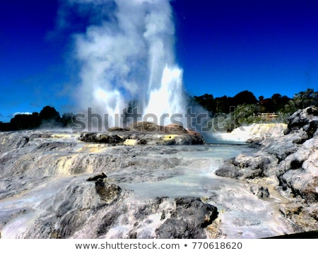 ニュージーランド 王子 ウェールズ 水 青 電源 ストックフォト © jeayesy