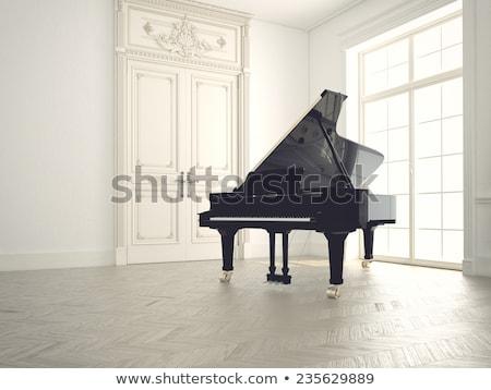 Piano à queue mur fenêtre piano modernes Photo stock © zzve