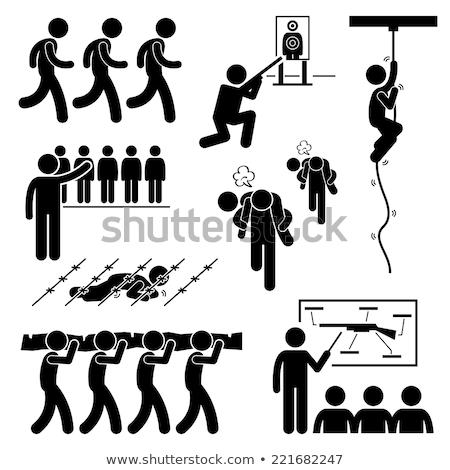askeri · eğitim · tabanca · ölüm · egzersiz - stok fotoğraf © tashatuvango