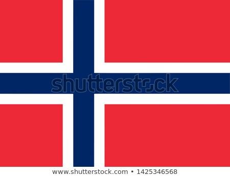 Magas döntés zászló Norvégia terv szél Stock fotó © joggi2002