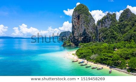 Deniz görmek plaj krabi Tayland manzara Stok fotoğraf © pop_araks