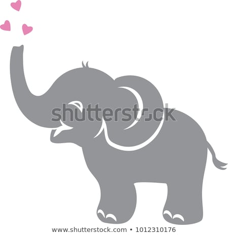 Baby elephant with pink heart Stock photo © adrian_n