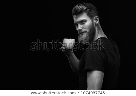 artístico · pose · dramático · moda · moço · barba - foto stock © feedough