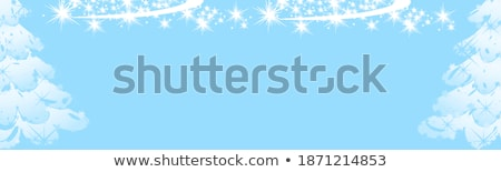 Christmas gifts with some ornaments on a blue background Stock photo © phila54