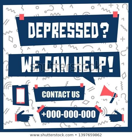 stress we can help chalk illustration stock photo © kbuntu