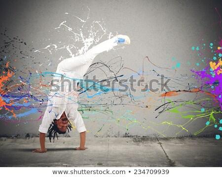 capoeira · férfi · ugrik · fehér · sport · férfiak - stock fotó © BrazilPhoto