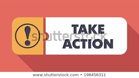 take action on scarlet in flat design stock photo © tashatuvango
