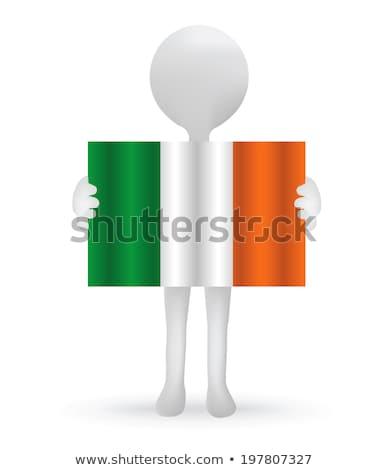 irlandés · bandera · forma · corazón · plantilla · de · diseño - foto stock © istanbul2009