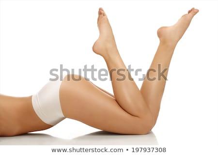 изящный босиком ног женщины изолированный белый Сток-фото © 26kot