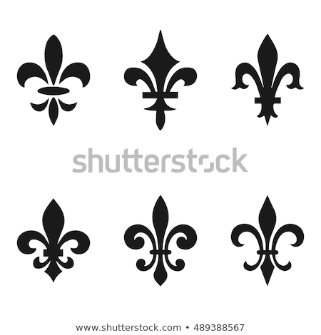 Collection of fleur de lis symbols - black silhouettes Stock photo © Mischoko