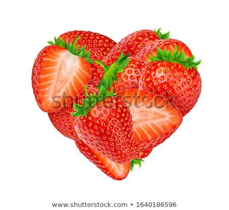Symbol Erdbeere Scheiben Form Zeichen Referenz Stock foto © leowolfert