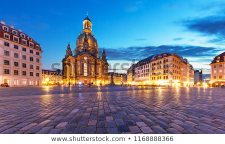 Dresden, Germany at Neumarkt Square and Frauenkirche at night.  Stock photo © meinzahn