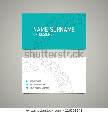 modern simple business card template for ux designer stock photo © orson